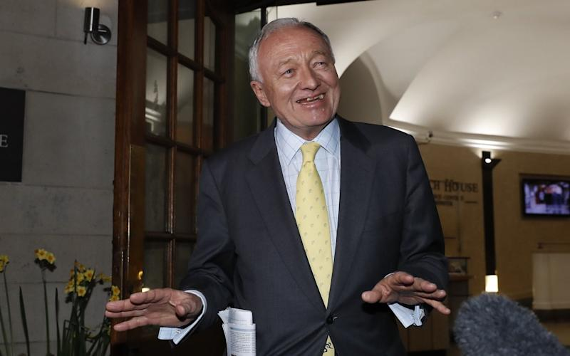 Former Mayor of London Ken Livingstone leaves Church House after hearing the result of a Labour Party disciplinary hearing.  - London News Pictures Ltd