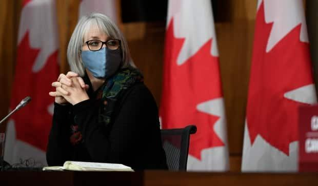 Minister of Health Patty Hajdu listens during a news conference on the COVID-19 pandemic in Ottawa, on Friday, Dec. 4, 2020.