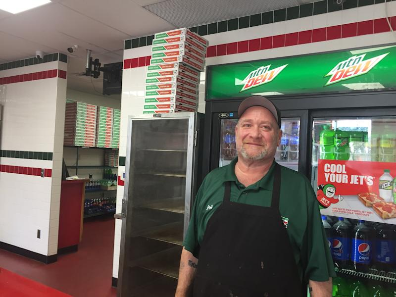 Jeff Hueter, assistant general manager of the Jet's Pizza location on Orchard Lake Road, said schools provide good business for pizza deliveries.
