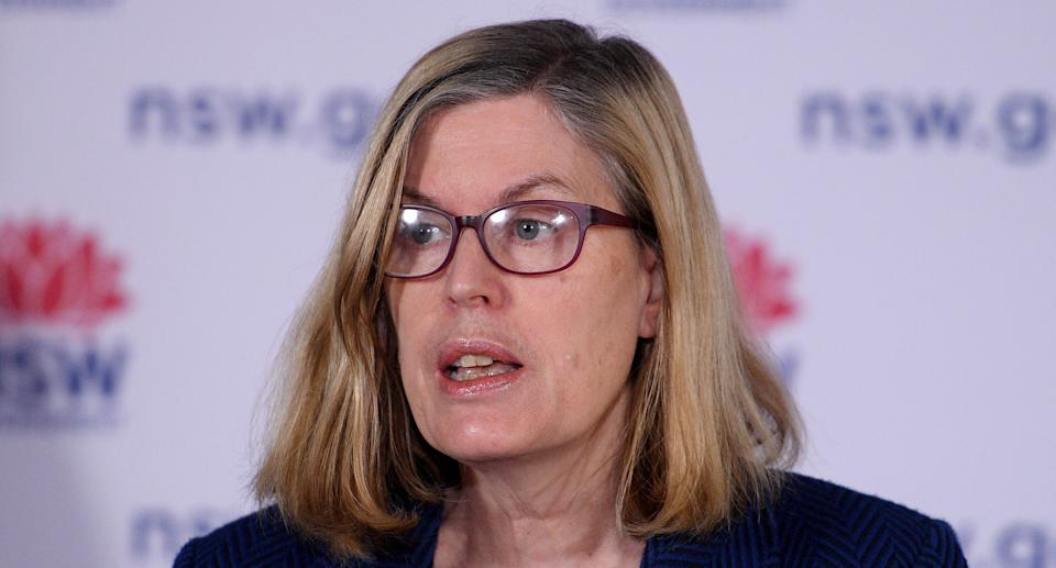 NSW Chief Health Officer Dr Kerry Chant addresses media during a press conference in Sydney, Wednesday, September 29, 2021. Source: AAP