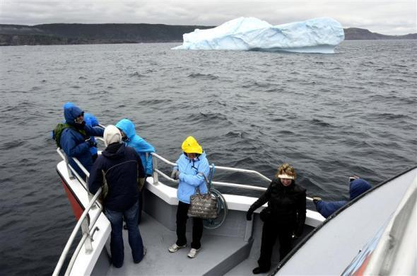 An iceberg seen near Cape Spear, Newfoundland, May 31, 2012.