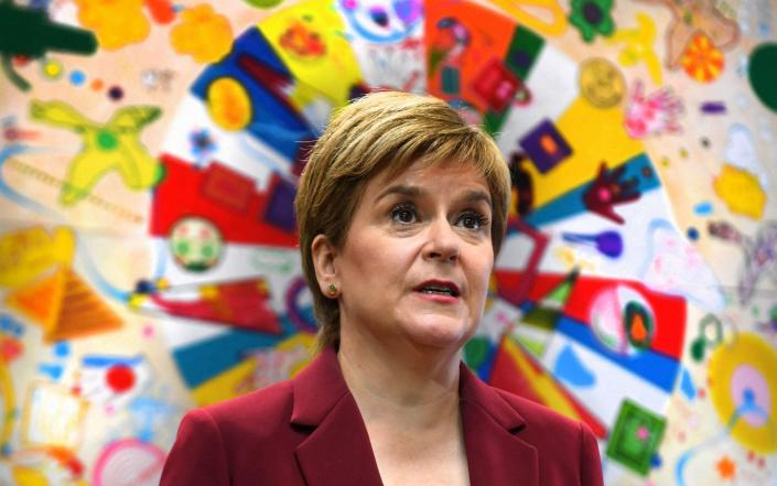 Nicola Sturgeon visits the Connect Community Trusts Connie Centre in Glasgow - AFP