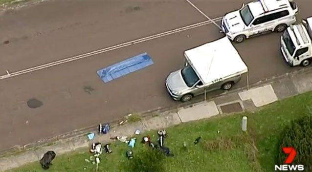 The scene where Mr Thompson died. Source: 7 News
