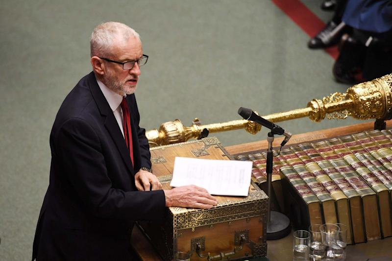 Jeremy Corbyn pictured in the Commons on Tuesday: Jessica Taylor/UK Parliament