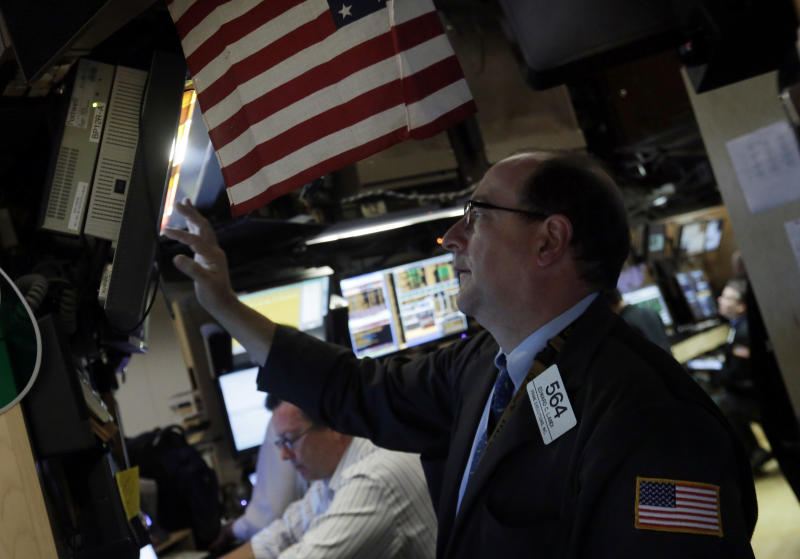 Waiting for word from Bernanke, stocks move higher