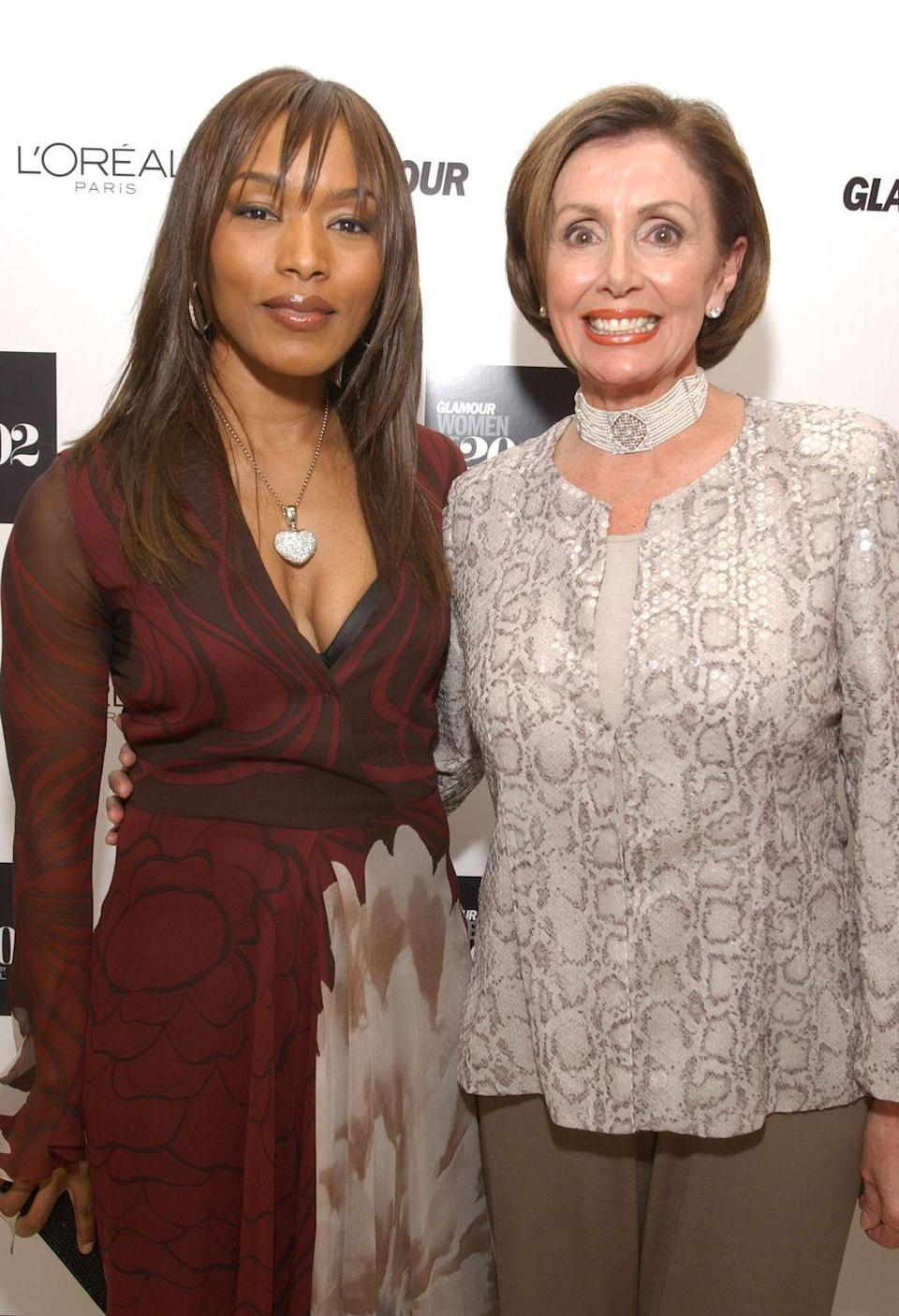 <p>Pelosi with Angela Bassett at the Glamour Women of the Year Awards in New York. </p>