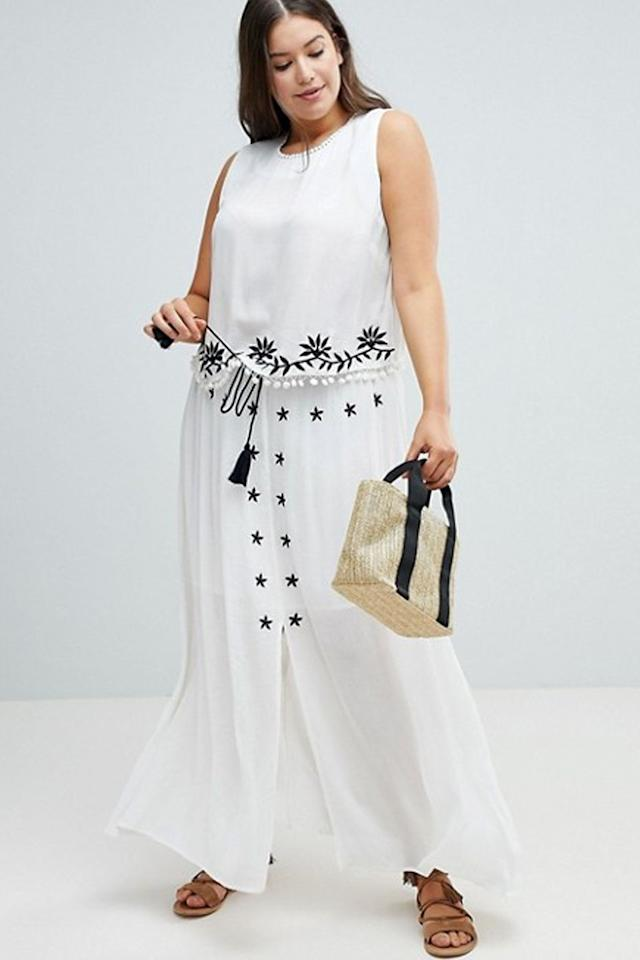 "<p>$85</p><p><a rel=""nofollow"" href=""http://us.asos.com/glamorous-curve/glamorous-curve-embroidered-crop-top-skirt-with-tassle-ties-two-piece/grp/19717"">SHOP NOW</a></p><p>In a rush? Grab this two-piece outfit that's practically made for days when you don't have time to think about what to wear.</p>"