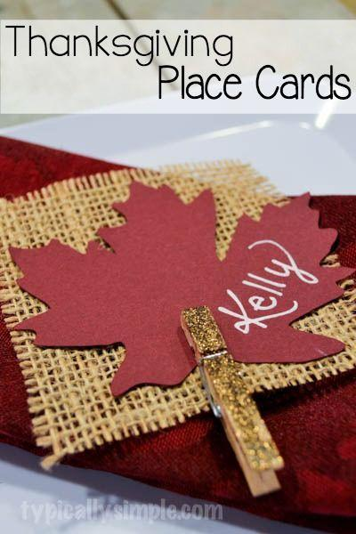 "<p>These festive place cards aren't just for Thanksgiving: Use them for dinners during the entire fall season. </p><p><strong>Get the tutorial at <a href=""https://typicallysimple.com/thanksgiving-place-cards/"" rel=""nofollow noopener"" target=""_blank"" data-ylk=""slk:Typically Simple"" class=""link rapid-noclick-resp"">Typically Simple</a>. </strong></p><p><strong><a class=""link rapid-noclick-resp"" href=""https://www.amazon.com/CleverDelights-Natural-Burlap-Roll-Eco-Friendly/dp/B00MXBEIJI/?tag=syn-yahoo-20&ascsubtag=%5Bartid%7C10050.g.1538%5Bsrc%7Cyahoo-us"" rel=""nofollow noopener"" target=""_blank"" data-ylk=""slk:SHOP BURLAP"">SHOP BURLAP</a></strong></p>"