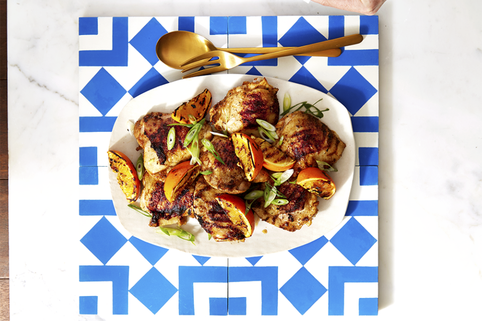 """<p>If you're lucky enough to host an Easter barbecue party, this one's for you. Zesty citrus helps to massage the heat of chipotle seasoning, and the combo pairs well with nearly any side.<br></p><p><em><a href=""""https://www.goodhousekeeping.com/food-recipes/a39931/chipotle-orange-chicken-recipe/"""" rel=""""nofollow noopener"""" target=""""_blank"""" data-ylk=""""slk:Get the recipe for Chipotle Orange Chicken »"""" class=""""link rapid-noclick-resp"""">Get the recipe for Chipotle Orange Chicken »</a></em></p>"""