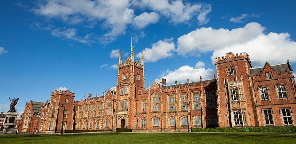 "<p>This university looks more like a palace fit for Irish <a href=""http://www.goodhousekeeping.com/life/g4253/american-princesses/"" rel=""nofollow noopener"" target=""_blank"" data-ylk=""slk:royalty"" class=""link rapid-noclick-resp"">royalty</a> than a school for young 20-somethings. The Lanyon Building is noted as one of the most recognizable landmarks at Queen's University; however, the campus houses more than 250 buildings that resemble this gorgeous Gothic and Medieval style. </p>"