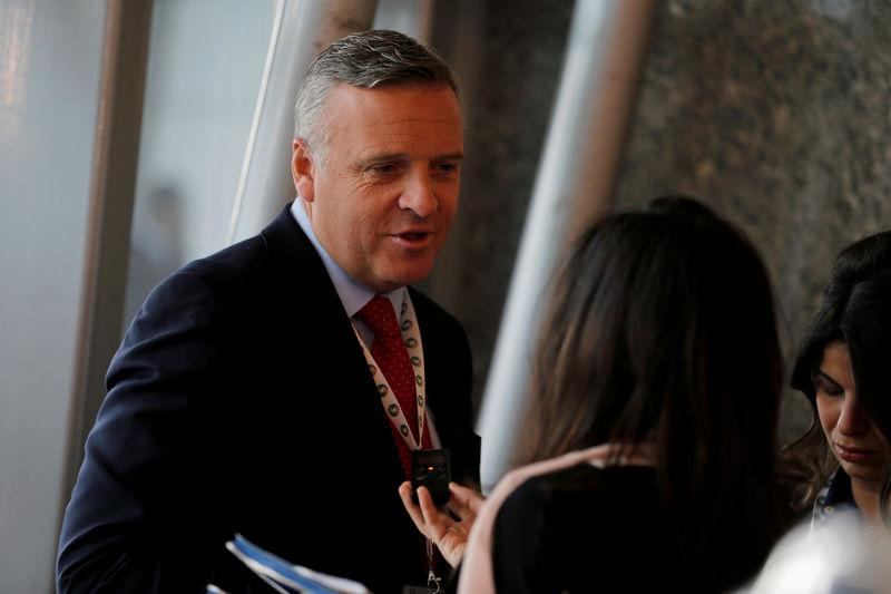 FILE PHOTO: CEO of McDermott, Dickson speaks to Reuters at Saudi-US CEO Forum 2017 ahead of the arrival Trump, in Riyadh