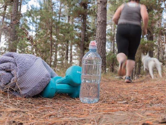 """<span class=""""caption"""">At least you can do something about being obese.</span> <span class=""""attribution""""><a class=""""link rapid-noclick-resp"""" href=""""https://www.shutterstock.com/image-photo/overweight-woman-jogging-on-forest-trail-429163678?src=lqSQXGtk4kVXYVPT7MT_zA-1-6"""" rel=""""nofollow noopener"""" target=""""_blank"""" data-ylk=""""slk:Gabrielle Ray/Shutterstock"""">Gabrielle Ray/Shutterstock</a></span>"""