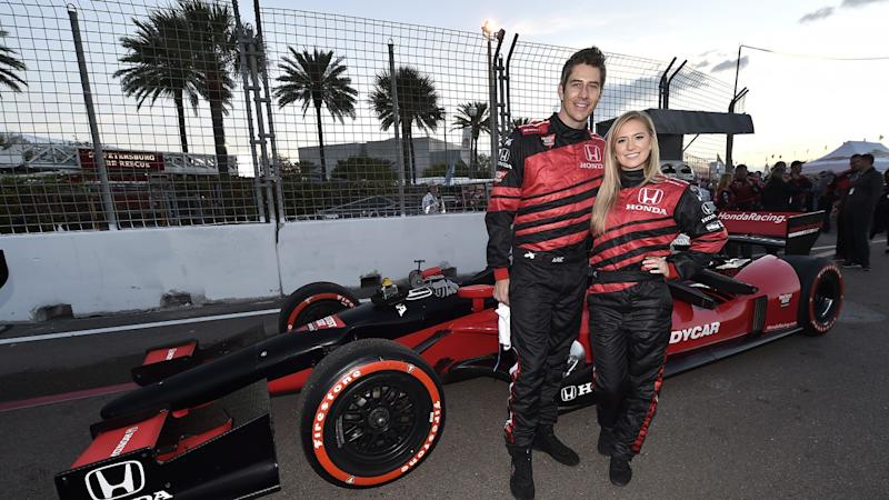 Arie Luyendyk Jr. Takes Race Car Selfie With Lauren Burnham That's Identical to One With His Ex