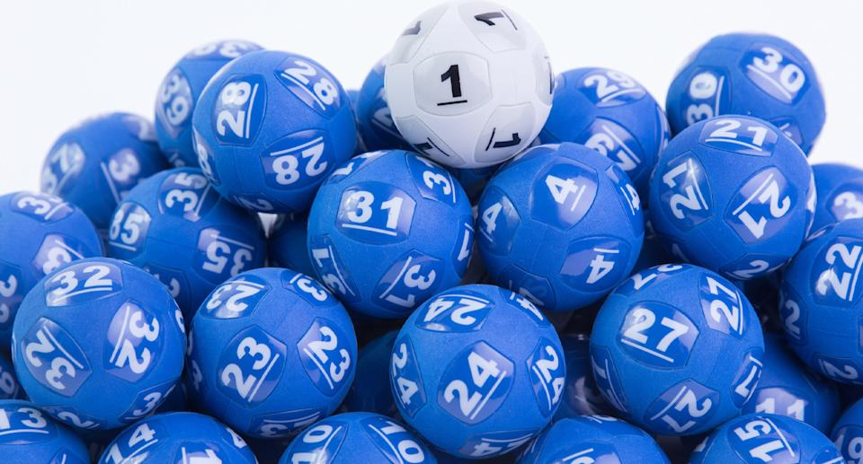 Pictured are Powerball balls.