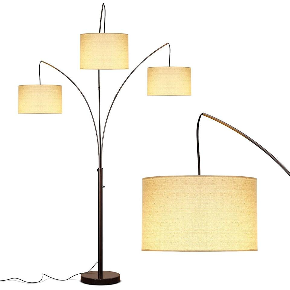 <p>This <span>Brightech Trilage Modern LED Arc Floor Lamp With Marble Base</span> ($160) will bring you three times the light. Who could resist that?</p>