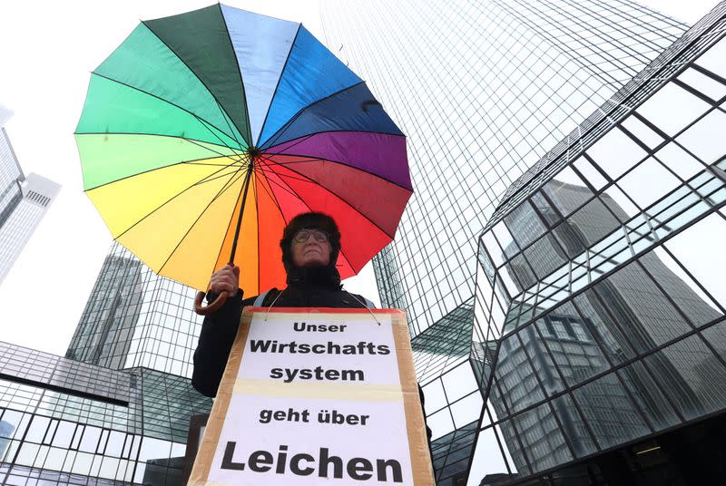 Manure and a broken arm: Activist priest's 30-year tangle with Deutsche Bank