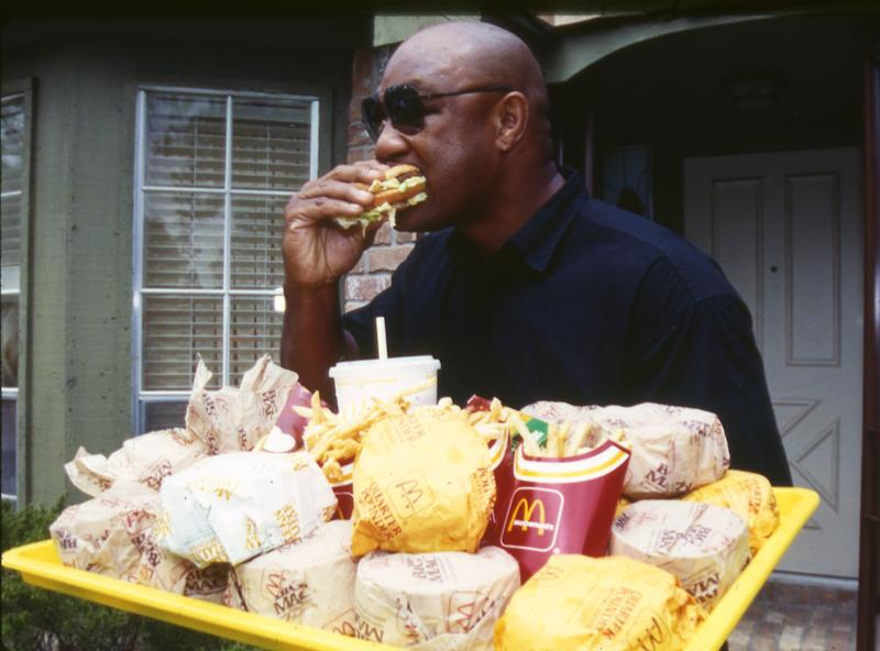 Foreman at a McDonald's in Houston in 1991.