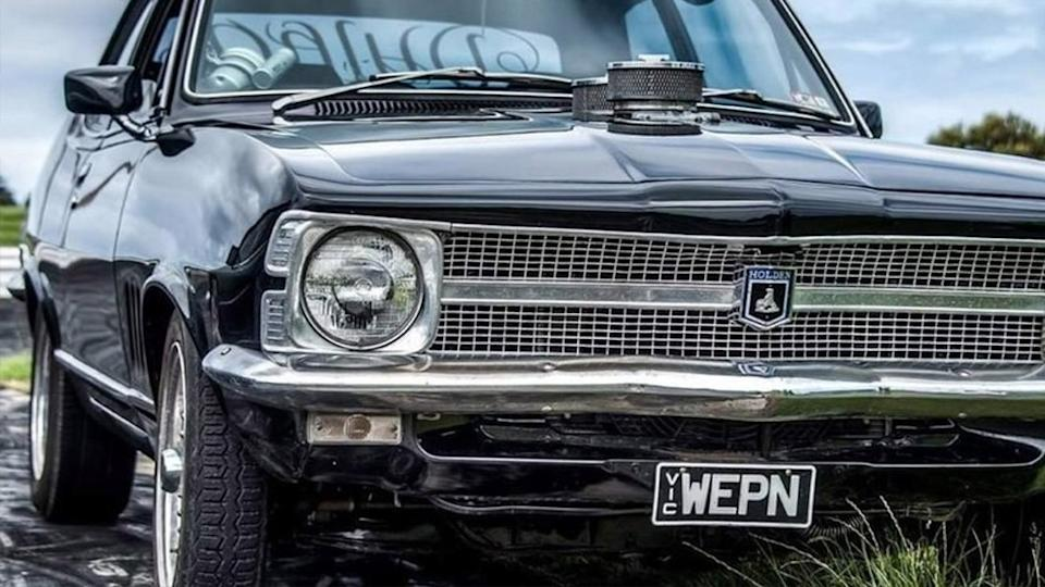 Pictured is the Holden Torana with the number plate WEPN.
