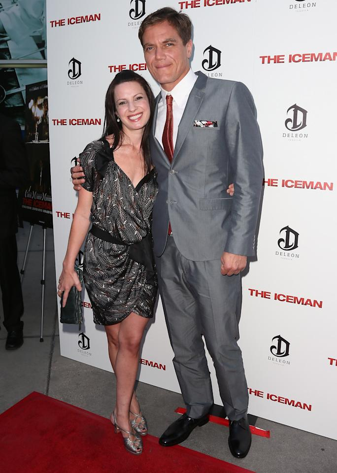 "HOLLYWOOD, CA - APRIL 22:  Actors Kate Arrington (L) and Michael Shannon attend the Los Angeles special screening of Millennium Entertainment's ""The Iceman"" at ArcLight Hollywood on April 22, 2013 in Hollywood, California.  (Photo by David Livingston/Getty Images)"