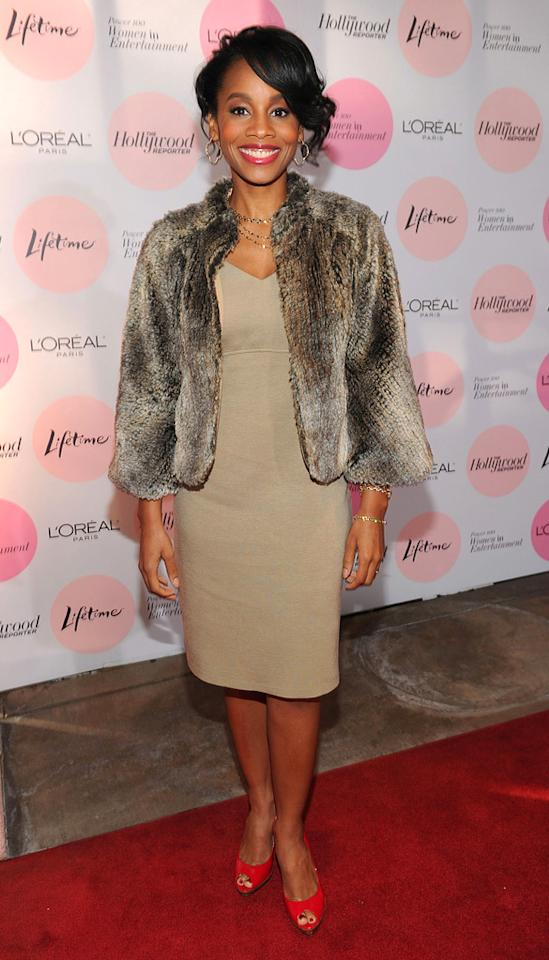 """<a href=""""http://movies.yahoo.com/movie/contributor/1808489830"""">Anika Noni Rose</a> attends the Hollywood Reporter's Power 100: Women In Entertainment Breakfast at Beverly Hills Hotel on December 7, 2010 in Beverly Hills, California."""