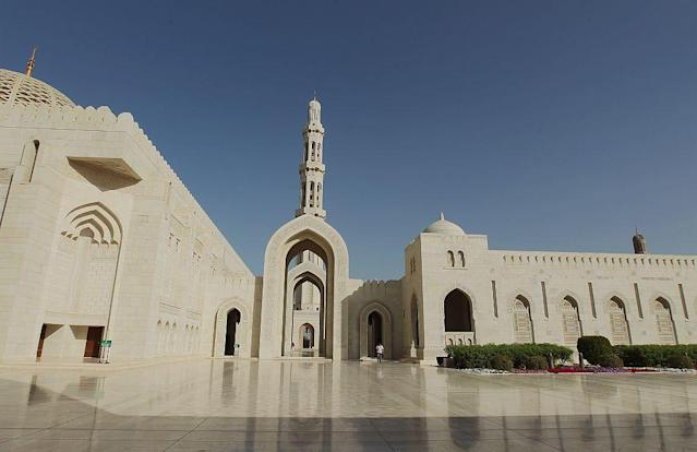 <b>MUSCAT, OMAN:</b> The awe-inspiring Sultan Qaboos Grand Mosque in Muscat, Oman, is built from 300,000 tonnes of Indian sandstone. It took six years and four months to build and was finished in 2001. It can accommodate a maximum of 20,000 worshippers including a separate prayer hall for women. The Grand Mosque has the second-largest prayer carpet and chandelier in the world.