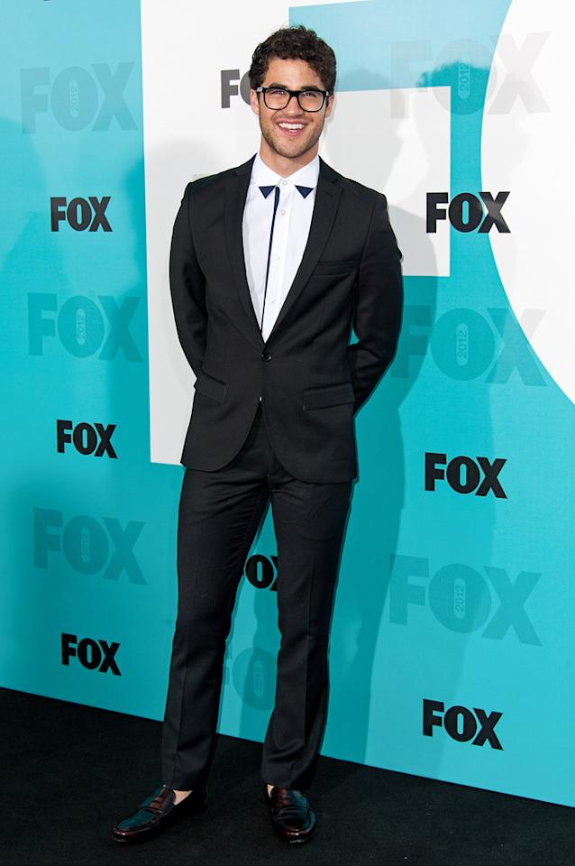 "Darren Criss (""Glee"") attends the Fox 2012 Upfronts Post-Show Party on May 14, 2012 in New York City."