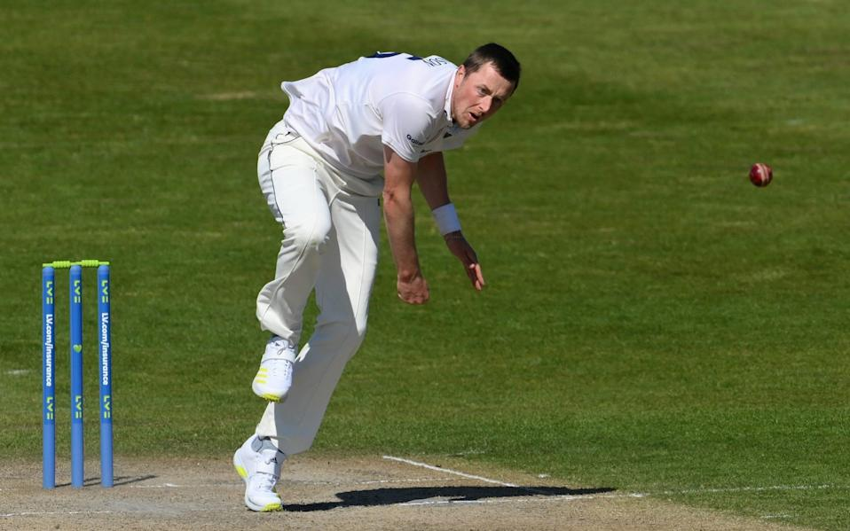 Sussex pace bowler Ollie Robinson in action - GETTY IMAGES