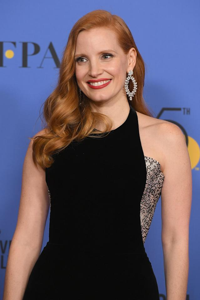 Chastain has been an outspoken supporter of women's causes, including the #TimesUp protest at the Golden Globes. (Photo: Kevin Winter/Getty Images)