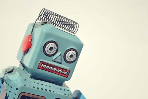 A picture of a vintage robot toy