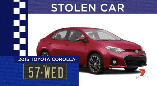Police are still searching for Mrs Reeves' stolen car. Picture: 7 News