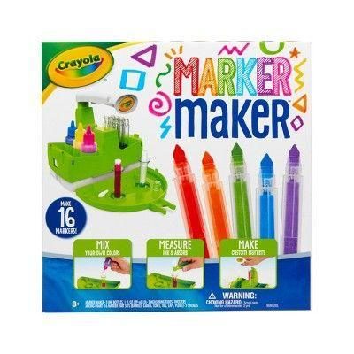 "<p><strong>Crayola</strong></p><p>target.com</p><p><strong>$19.99</strong></p><p><a href=""https://www.target.com/p/crayola-25pc-marker-maker-set/-/A-79659647"" rel=""nofollow noopener"" target=""_blank"" data-ylk=""slk:Shop Now"" class=""link rapid-noclick-resp"">Shop Now</a></p><p>This DIY kit is half-STEM, half-craft. Kids can follow step-by-step instructions to <strong>make their own makers, including choosing their own, unique color blends.</strong> It comes with enough supplies to make 16 markers. <em>Ages 8+</em></p>"