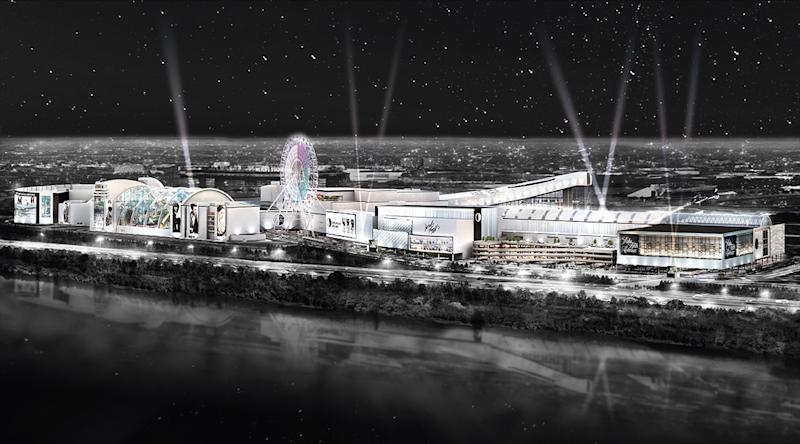 Artist's rendering of the American Dream Mall