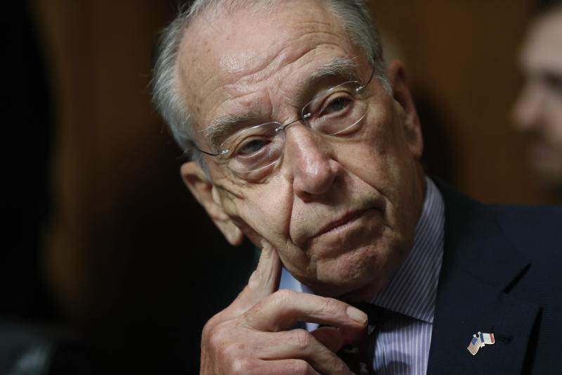 Grassley Asks Justice Department to Investigate Avenatti and Swetnick
