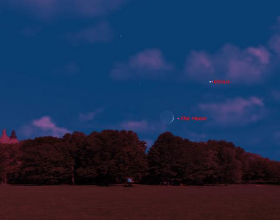 Venus Shines With Moon Tonight: How to See It