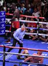Fury was also knocked down several times, including in round four (AFP/Robyn Beck)