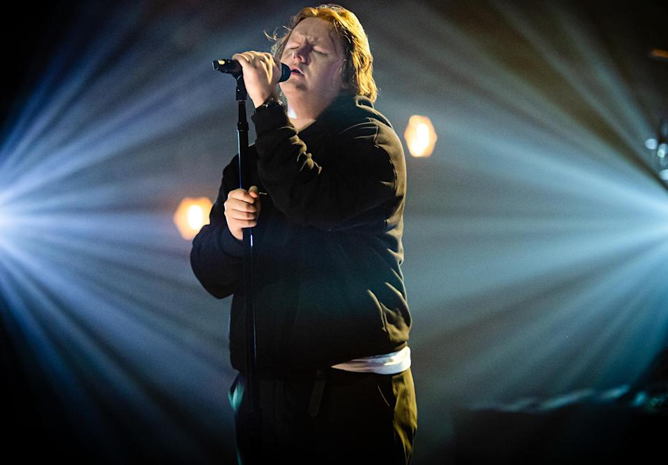 <p>Lewis Capaldi performs on stage during McDonald's I'm Loving It Live on Sunday at The Printworks in London.</p>