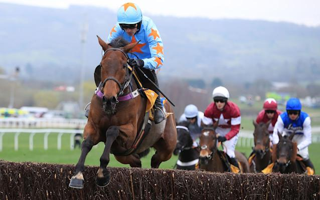 <span>Un De Sceaux ridden by Ruby Walsh on the way to winning the Ryanair Chase</span> <span>Credit: Mike Egerton/PA Wire </span>