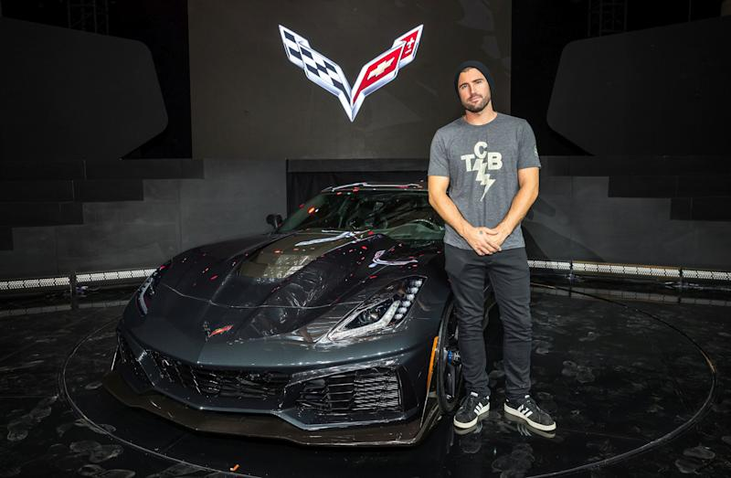 Brody Jenner with Corvette