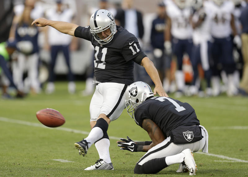 Sebastian Janikowski was placed on injured reserve by the Raiders on Saturday. (AP)