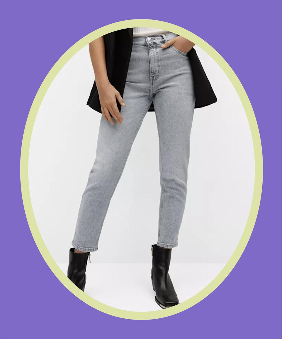 """<br><br><strong>Mango</strong> Mom-Fit Jeans, $, available at <a href=""""https://go.skimresources.com/?id=30283X879131&url=https%3A%2F%2Fwww.macys.com%2Fshop%2Fproduct%2Fmango-womens-mom-fit-jeans%3FID%3D11909107%26CategoryID%3D68514"""" rel=""""nofollow noopener"""" target=""""_blank"""" data-ylk=""""slk:Macy's"""" class=""""link rapid-noclick-resp"""">Macy's</a>"""