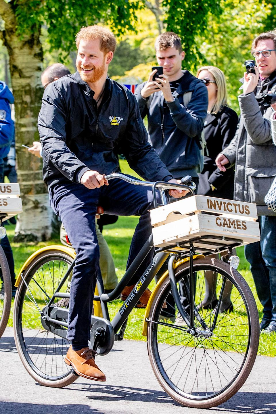 prince harry cycling