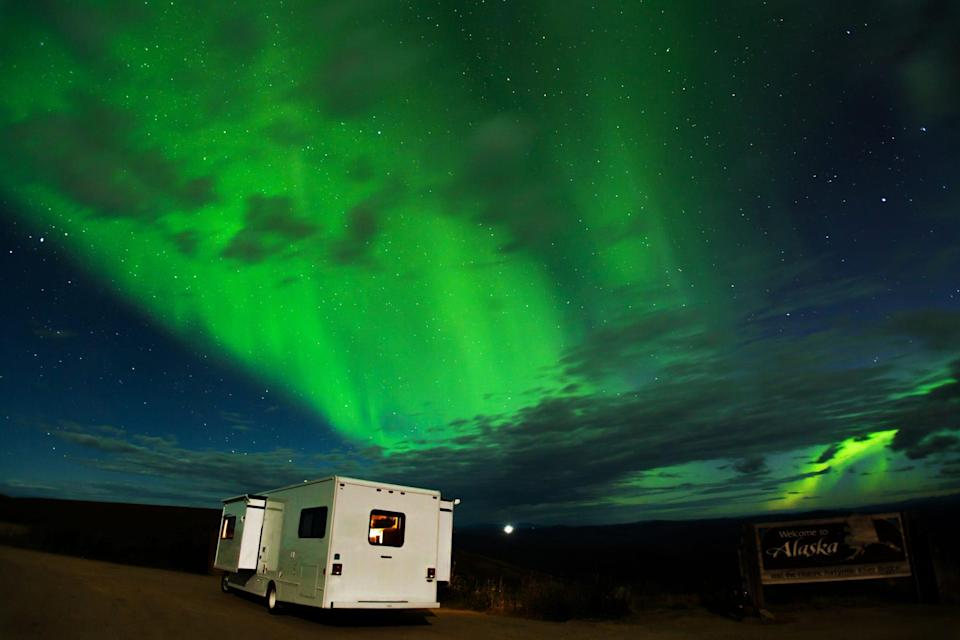 Alaska's 20-hour-long summer days give you plenty of time to check items off your must-do list but they also mean it's hard to experience the Northern Lights.