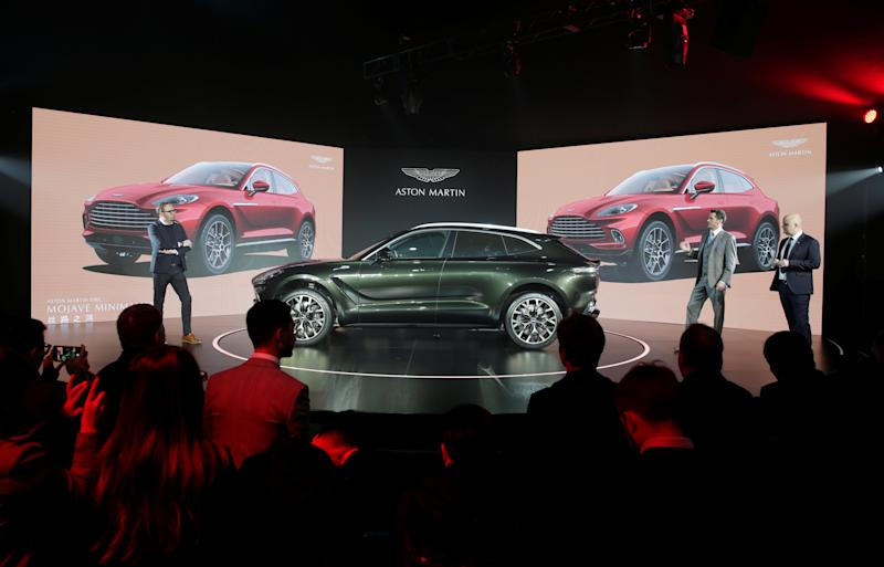 Aston Martin DBX launch in Beijing, China. Photo: Jason Lee/Reuters