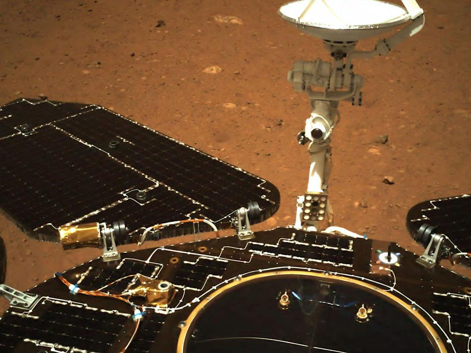 <p>China's space agency released the first photos from Mars's surface on 19 May</p> (CNSA via AFP/Getty)