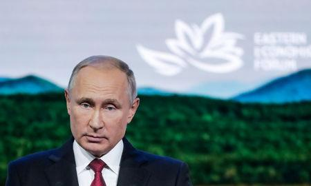 Russian President Putin attends the Eastern Economic Forum in Vladivostok
