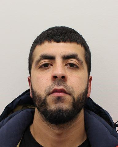 Azeem Ahktar, 29, of ....., was jailed for eight years at Harrow Crown Court after previously pleading guilty to a raft of offences. (Met Police)