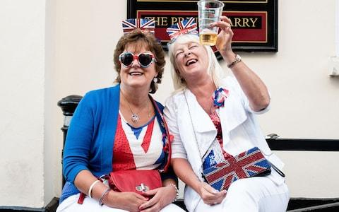 Pauline Gardiner and Janice smith, from Newcastle, - Credit: John Nguyen for The Telegraph