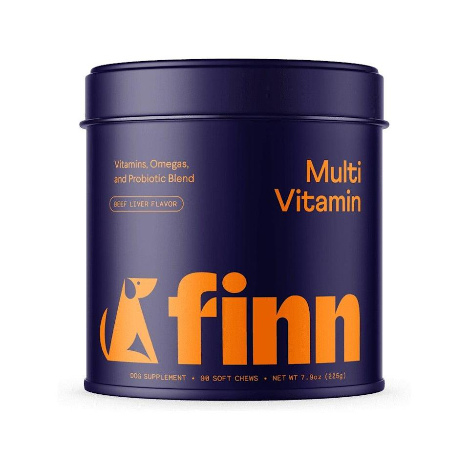 "<h3><h2>Finn Multivitamin</h2></h3><br>""Like all dog moms, all I want to give my pup the best, longest, happiest dog life ever. While vet checkups and maintaining a healthy diet and exercise routine are key, I also feel good about giving Miso these good-for-you chews with ingredients to support joints, a lustrous coat, digestion, and heart health. Plus, Miso is so obsessed with the taste, he jumps for them as soon as I open the tin."" <em>— Karina</em><br><br><strong>Finn</strong> Multivitamin, $, available at <a href=""https://go.skimresources.com/?id=30283X879131&url=https%3A%2F%2Fwww.petfinn.com%2Fproducts%2Fmultivitamin%2F"" rel=""nofollow noopener"" target=""_blank"" data-ylk=""slk:Finn"" class=""link rapid-noclick-resp"">Finn</a>"