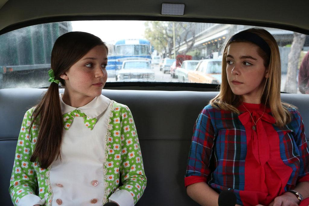 Julie (Cameron Protzman) and Sally Draper (Kiernan Shipka) - Mad Men _ Season 6, Episode 11 _ 'Favors' - Photo Credit: Jaimie Trueblood/AMC