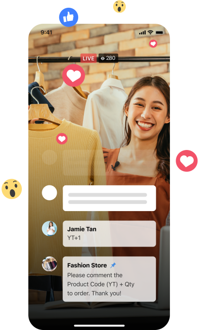 Upmesh's tool for collecting orders through Facebook Live comments